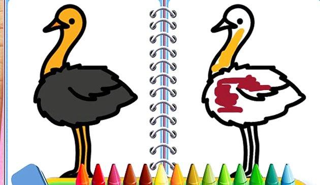 Раскраска Птиц - играть онлайн бесплатно