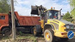 В Новосибирске убрали свалку строительного мусора
