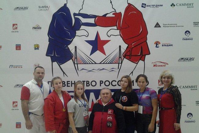 Победители первенства России по самбо среди юношей и девушек 2001-2002 г.р.