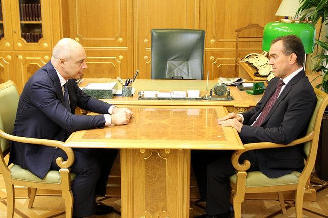 Встреча Вениамина Кондратьева и Антона Силуанова
