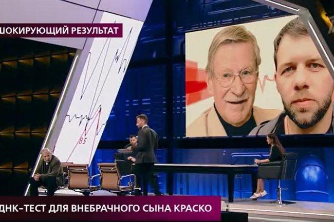 """Иван Краско и Александр Яковлев в эфире программы """"На самом деле""""."""