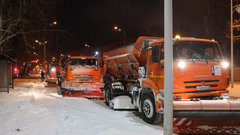 В Благовещенске ликвидируют последствия снегопада