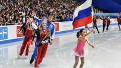 Российские фигуристы взяли серебро на командном ЧМ