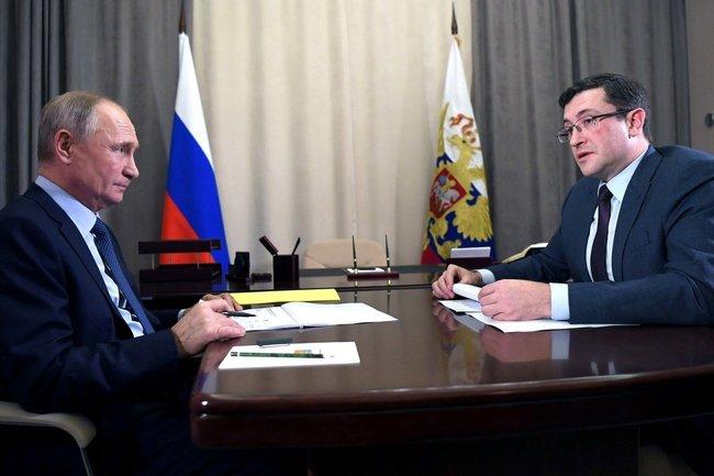 Владимир Путин и Глеб Никитин