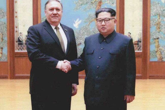 Майка Помпео и Ким Чен Ын