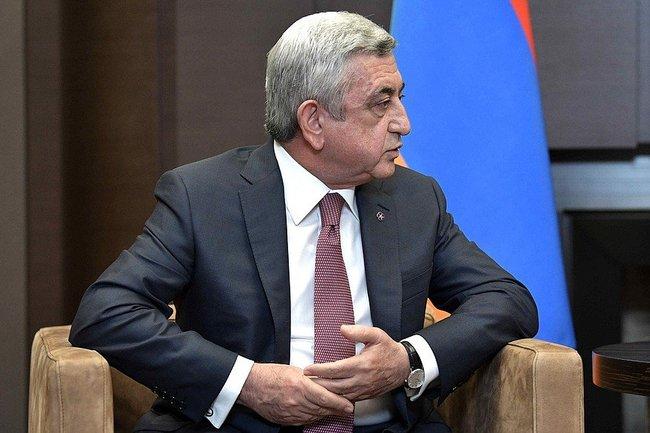 Бывший президент Армении Серж Саргсян