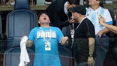 Марадона рассказал о своем самочувствии во время игры Аргентины с Нигерией