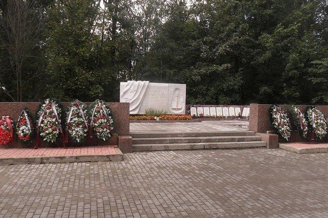 Братская могила погибших в авиакатастрофе 7 февраля 1981 года на Серафимовском кладбище Санкт-Петербурга.