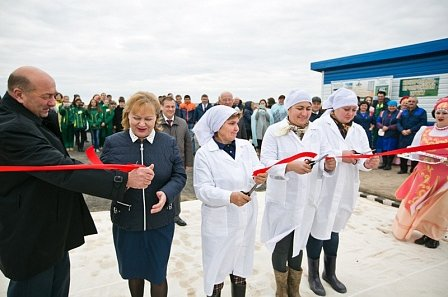 Открытие молочного комплекса в Оренбургской области