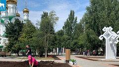 В Йошкар-Оле завершается благоустройство сквера имени Павла Глезденева