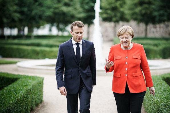 Эмануэль Макрон и Ангела Меркель