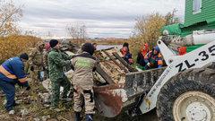 На субботнике «Зелёная Россия» вывозили металлолом грузовиками