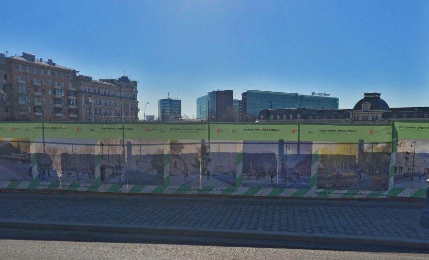 Облагороженная Павелецкая площадь