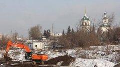 В Иркутске расчищают русло реки Ушаковки