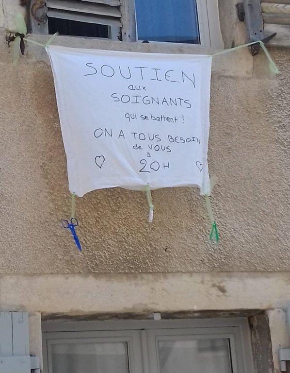 Дижон, Франция. Нехитрая благодарность врачам