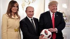 Сын Трампа поиграет с мячом Путина только после проверки спецслужб