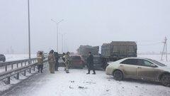 Под Тюменью столкнулись 18 авто