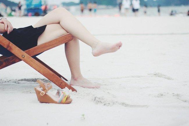ноги пляж отдых