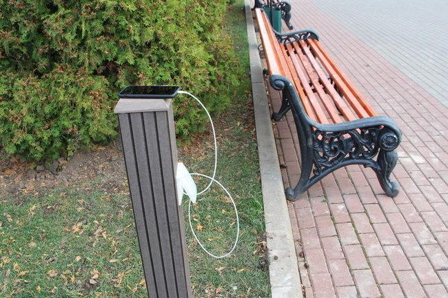 Станции для зарядки гаджетов появились в Центральном парке Тулы