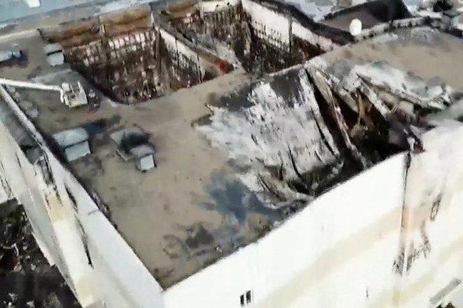 Всгоревшем помещении ТЦвКемерово снова случилось возгорание