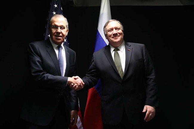 Встреча Сергея Лаврова с Майклом Помпео
