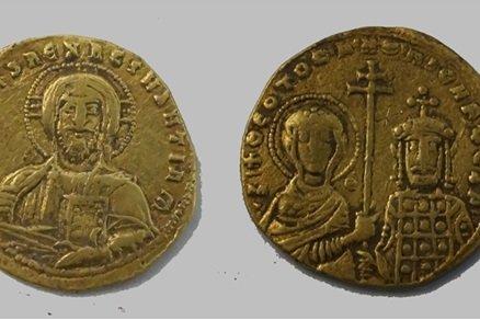 золотые монеты эпохи Средневековья.