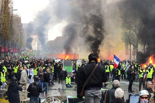 протесты франция