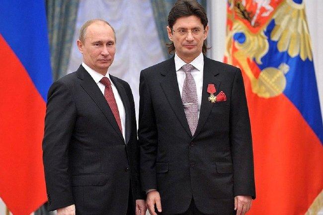 Леонид Федун (справа) и Владимир Путин