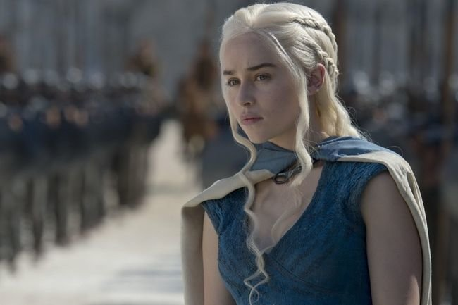 Эмилия Кларк в сериале «Игра престолов»