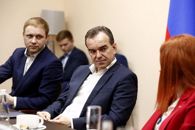 Глава Кубани встретился с местными финалистами конкурса «Лидеры России»