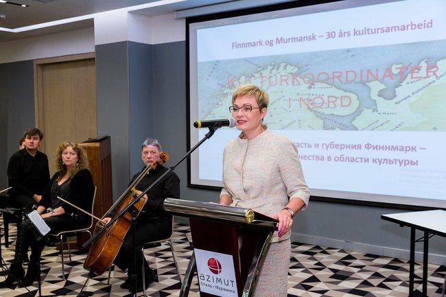 Губернатор Мурманской области Марина Ковтун на российско-норвежском региональном форуме
