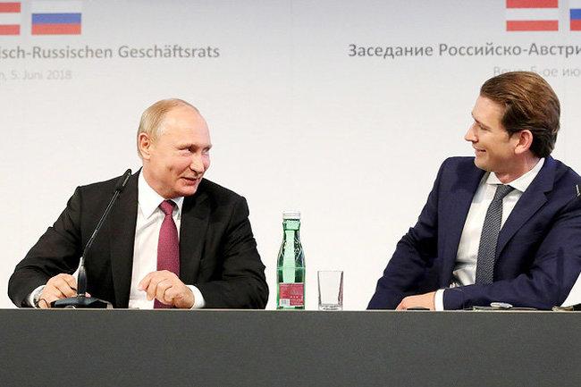 Владимир Путин и  Себастьян Курц