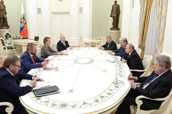 Встреча Путина с кандидатами в Президенты
