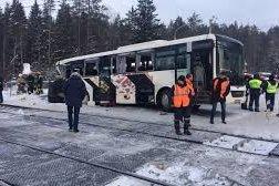 Авария автобус ласточка