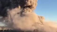 ВГатчине взорвался завод пиротехники, есть жертвы (ВИДЕО)