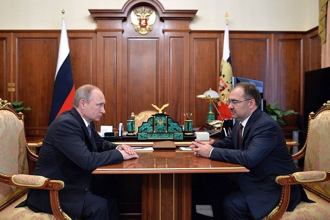 Антон Дроздов и Владимир Путин