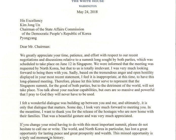 Письмо Трампа