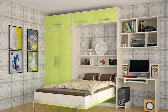 Горизонтальный шкаф-кровать внешне напоминает комод