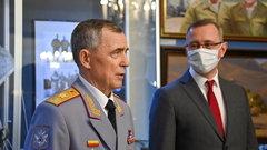 Губернатор Калужской области принял участие в открытии выставки, посвященной генералу армии Владимиру Исакову