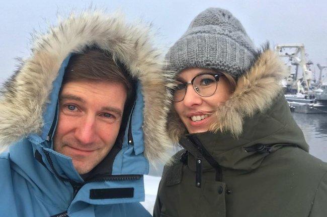 Антон Красовский и Ксения Собчак