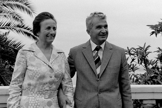 Николае Чаушеску с супругой Еленой