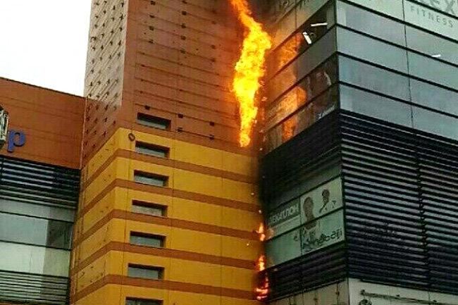 ТЦ Филион пожар