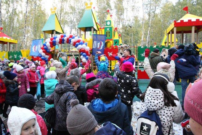 Детская площадка в парке имени Тищенко в Челябинске
