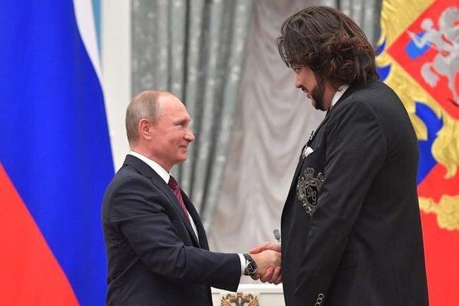 Владимир Путин и Филипп Киркоров