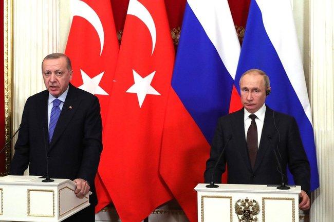 Тайип Эрдоган и Владимир Путин