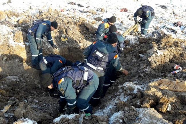 В Подмосковье завершена поисковая операция на месте катастрофы Ан-148