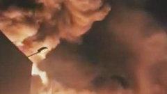 Крупный пожар вспыхнул в латвийском «городе химиков»