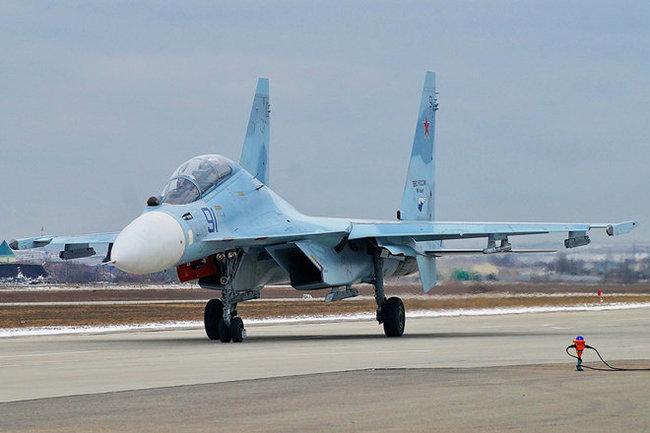 Перед падением уистребителя Су-30СМ резко снизилась тяга мотора
