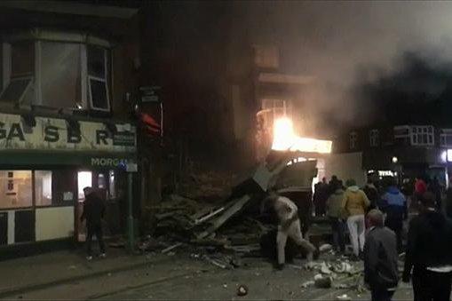 Взрыв в Лестере