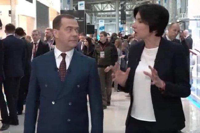Ирада Зейналова и Дмитрий Медведев